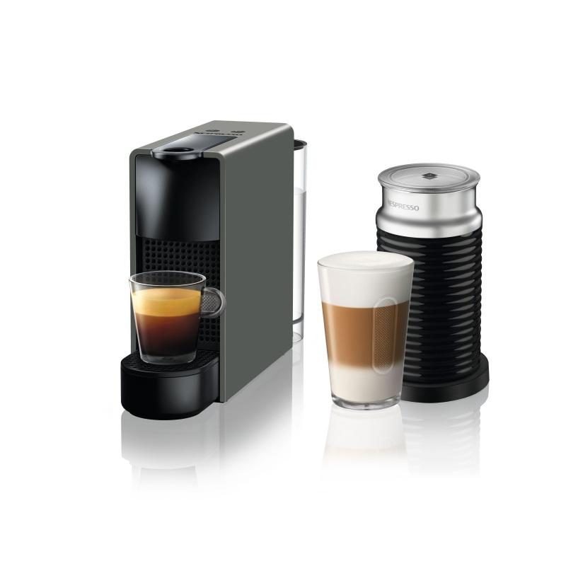 מכונת קפה Nespresso אסנזה מיני בצבע אפור דגם C30 כולל מקציף חלב ארוצ'ינו - תמונה 1