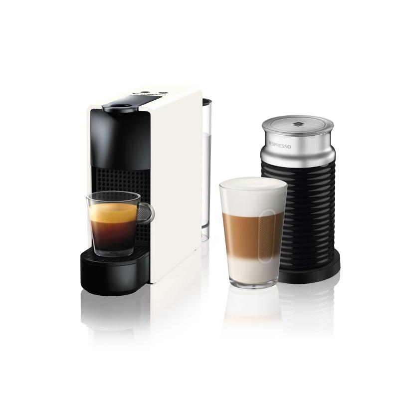 מכונת קפה Nespresso אסנזה מיני בצבע לבן דגם כולל מקציף חלב ארוצ'ינו - תמונה 1