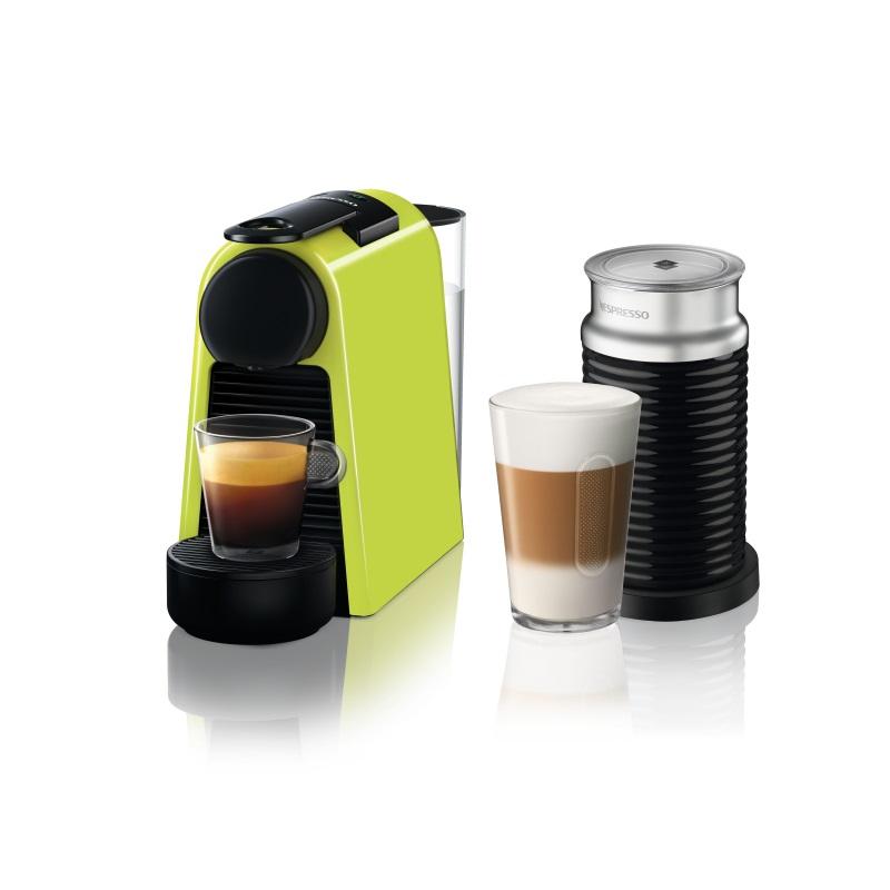 מכונת קפה Nespresso אסנזה מיני בצבע ירוק דגם D30 כולל מקציף חלב ארוצ'ינו - תמונה 1