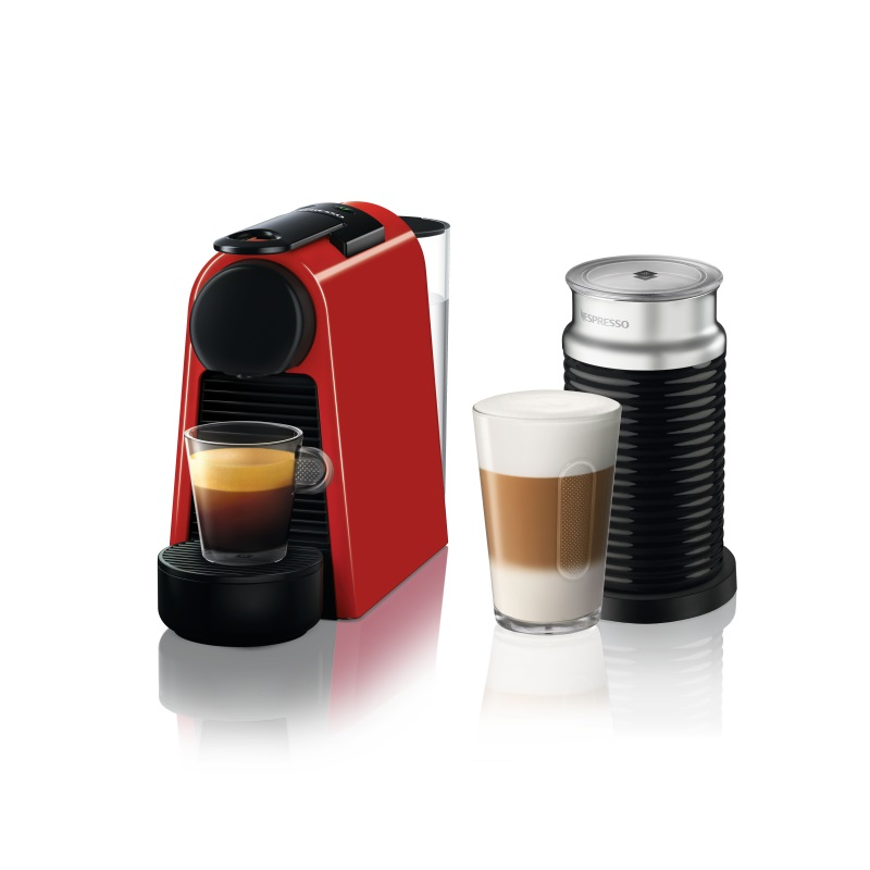 מכונת אספרסו Essenza Mini D30 כולל מקציף צבע אדום Nespresso נספרסו - תמונה 1