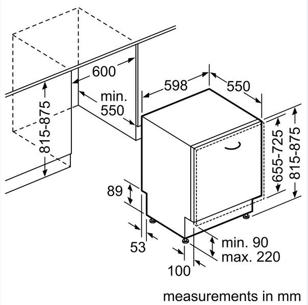 מדיח כלים רחב אינטגרלי BOSCH 60 ס