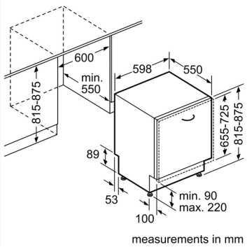 מדיח כלים רחב אינטגרלי מלא Bosch בוש SMA46QX00E - תמונה 3