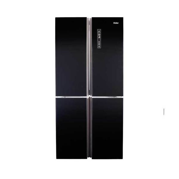 מקרר 4 דלתות HAIER האייר HRF456FB זכוכית שחורה
