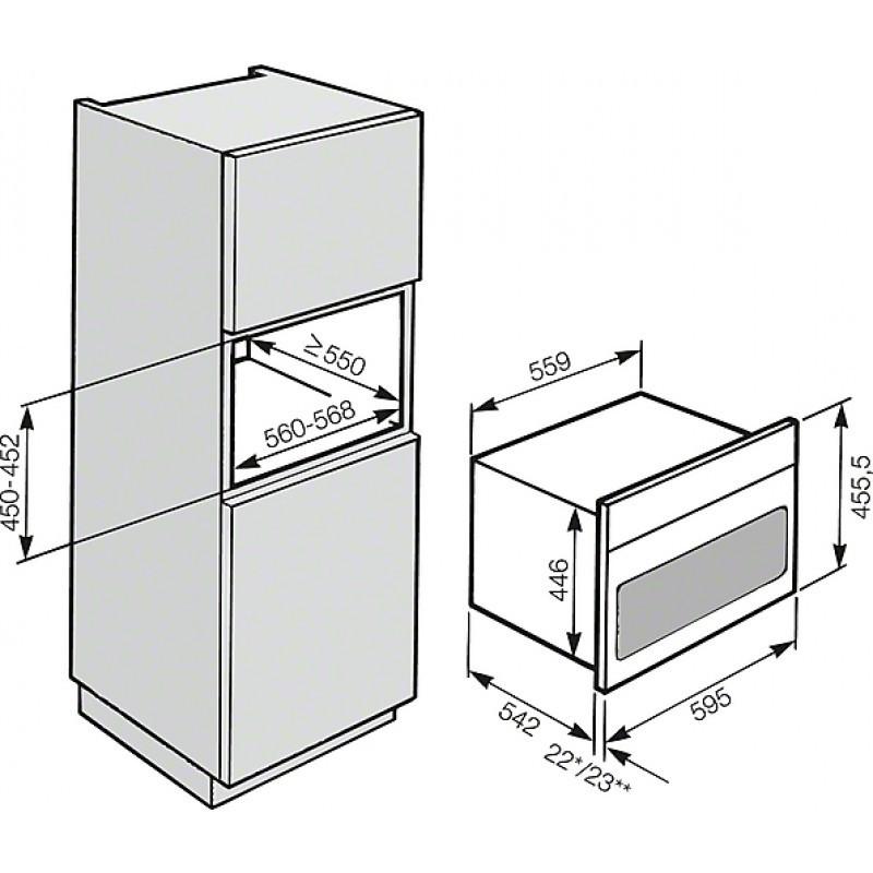 תנור בנוי משולב מיקרו Miele מילה H6401BM - תמונה 2