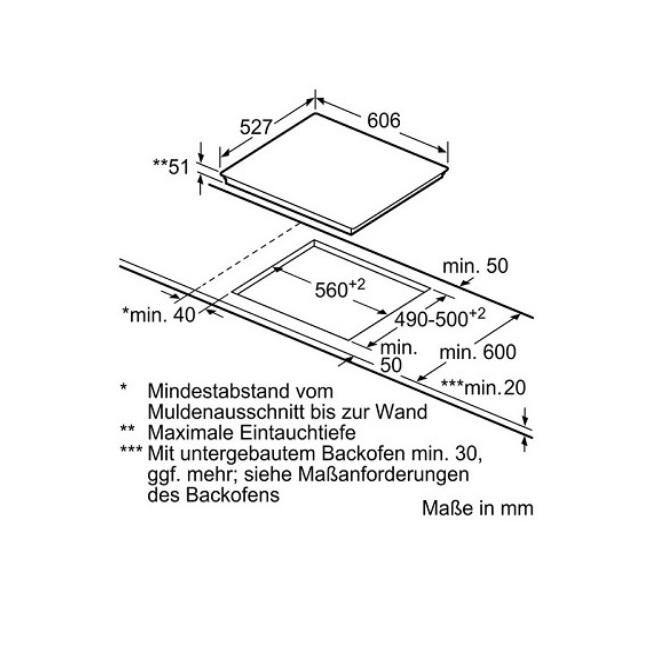 כיריים אינדוקציה Bosch בוש PXX675DC1E - תמונה 3