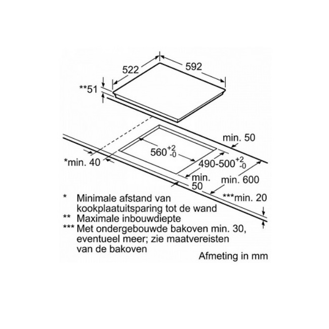 כיריים אינדוקציה Bosch בוש PIE611BB1E - תמונה 3