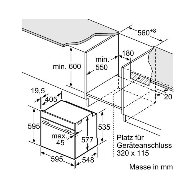 תנור בנוי Bosch בוש HBG675BW1 - תמונה 2