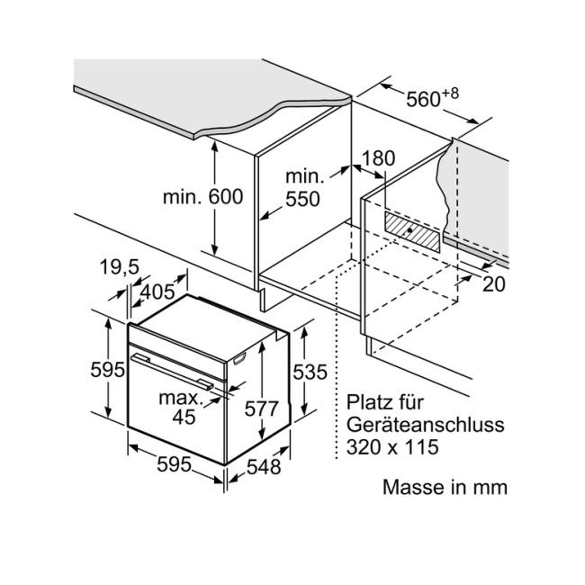 תנור בנוי Bosch פירוליטי בוש HBG675BS1 - תמונה 2