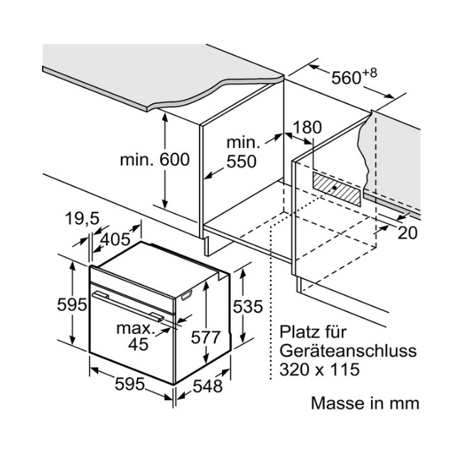 תנור בנוי Bosch בוש HBG676ES1 - תמונה 3