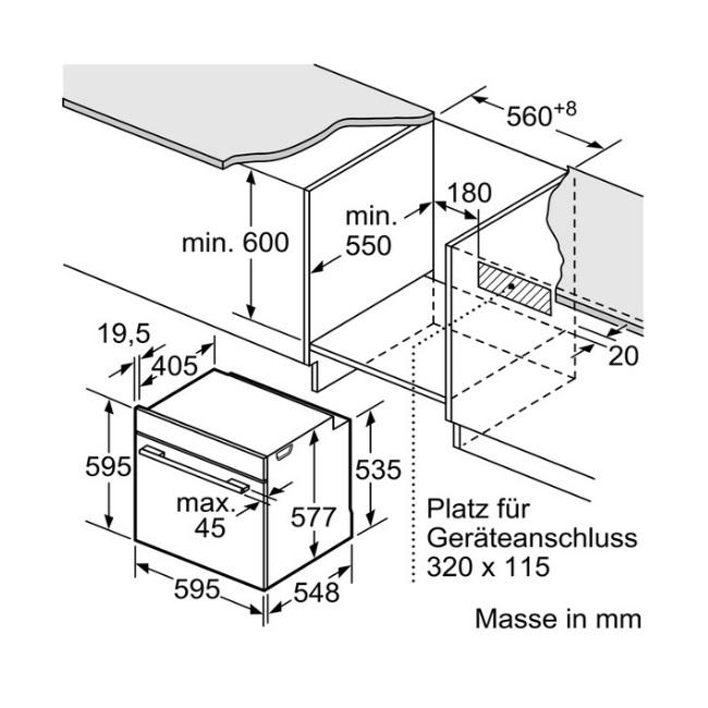 תנור בנוי Bosch בוש HBG634BW1 - תמונה 2