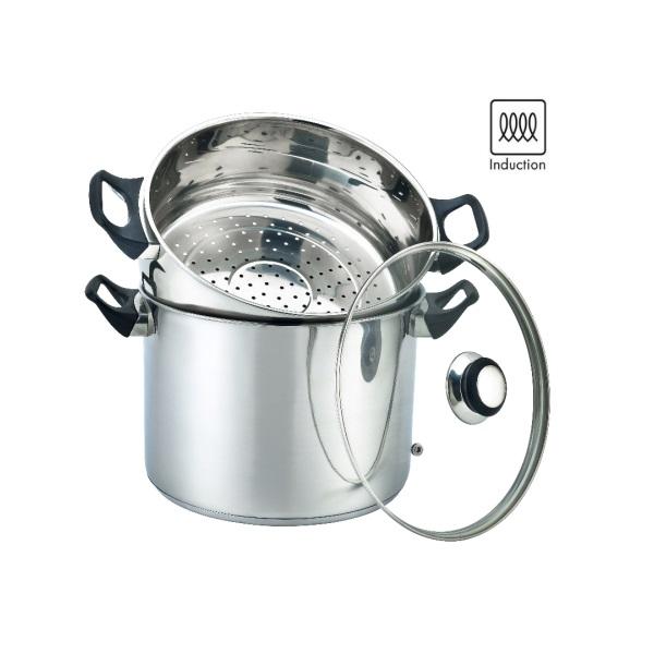 סיר קוסקוס נירוסטה בנפח 8 ליטר אינדוקציה תוצרת חברת la kitchenette