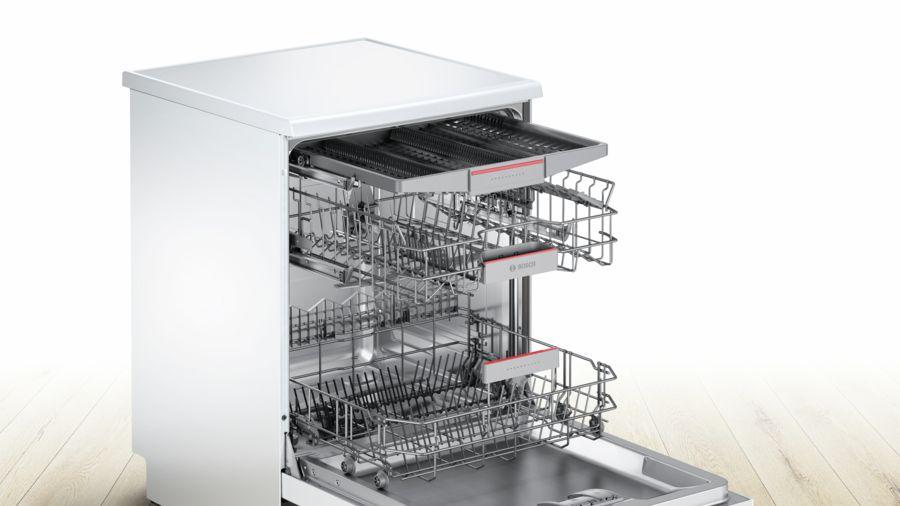 מדיח כלים רחב לבן 13 מע' כלים Bosch SMS46MW01E בוש - תמונה 2