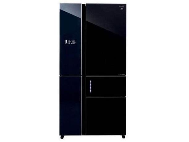 מקרר מקפיא תחתון Sharp SJ9711 661 ליטר שארפ זכוכית שחורה - תמונה 1