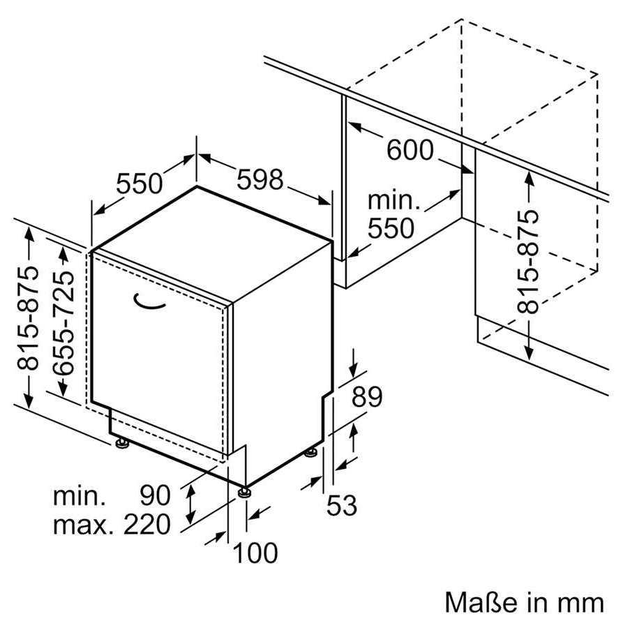 מדיח כלים רחב דגם SN636X02CE אינטגרלי מלא Siemens סימנס - תמונה 5