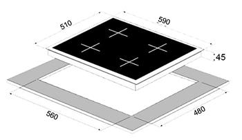 כיריים גז Sol SM6XG220 סול - תמונה 2