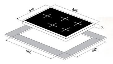 כיריים גז Sol FQ7GCW274 סול - תמונה 2