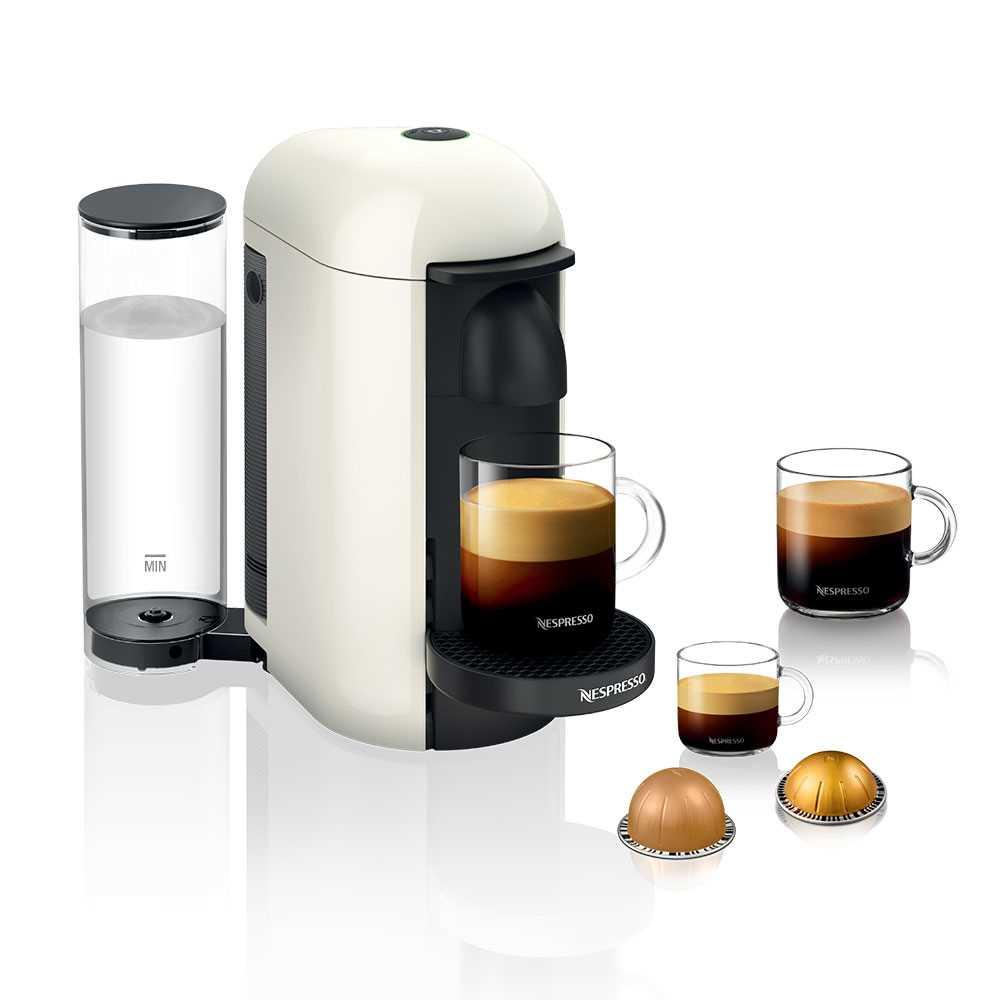 מכונת קפה VertuoPlus מבית NESPRESSO דגם GBC2 בגוון לבן כולל מקציף חלב אירוצי'נו - תמונה 2