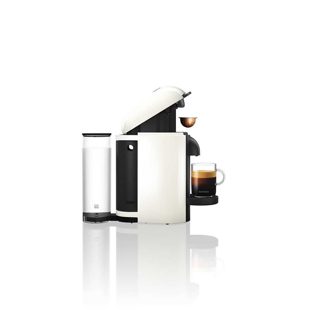 מכונת קפה VertuoPlus מבית NESPRESSO דגם GBC2 בגוון לבן כולל מקציף חלב אירוצי'נו - תמונה 5