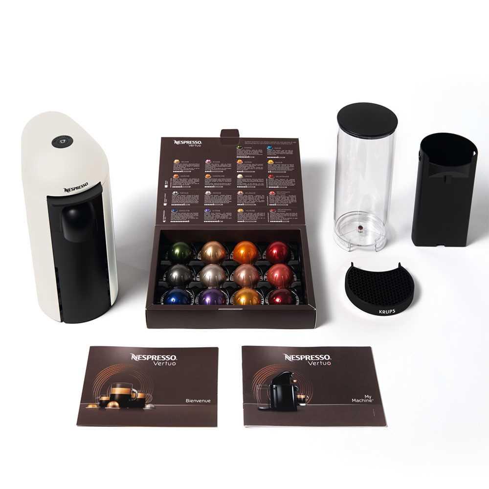 מכונת קפה VertuoPlus מבית NESPRESSO דגם GBC2 בגוון לבן כולל מקציף חלב אירוצי'נו - תמונה 6