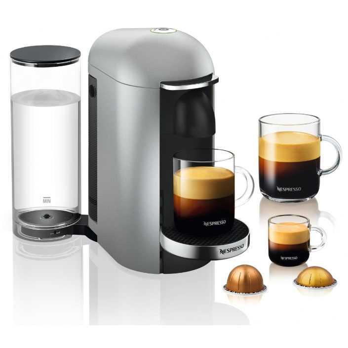מכונת קפה VertuoPlus מבית NESPRESSO דגם GBC2 בגוון כסוף כולל מקציף חלב אירוצי'נו - תמונה 2