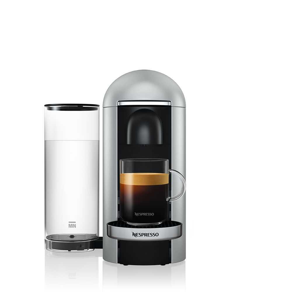 מכונת קפה VertuoPlus מבית NESPRESSO דגם GBC2 בגוון כסוף כולל מקציף חלב אירוצי'נו - תמונה 4