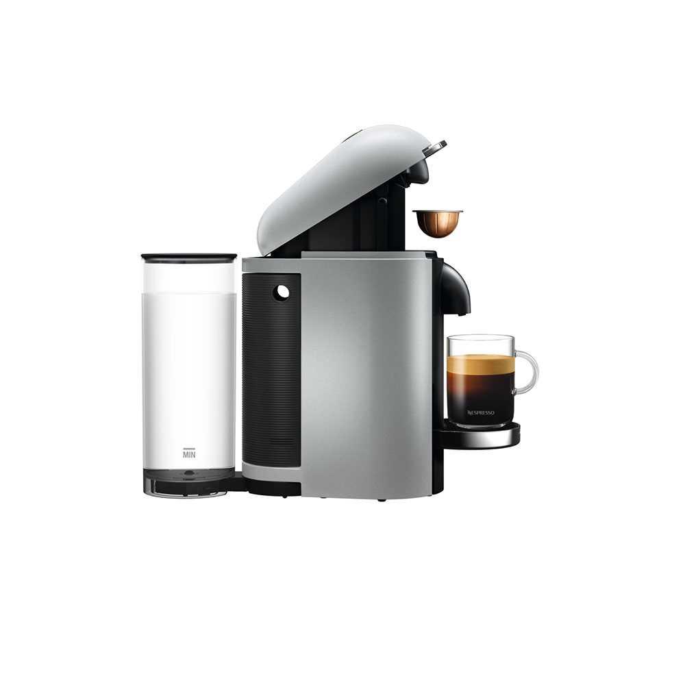 מכונת קפה VertuoPlus מבית NESPRESSO דגם GBC2 בגוון כסוף כולל מקציף חלב אירוצי'נו - תמונה 5