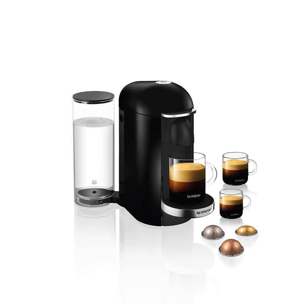 מכונת קפה VertuoPlus מבית NESPRESSO דגם GBC2 בגוון שחור כולל מקציף חלב אירוצי'נו - תמונה 2