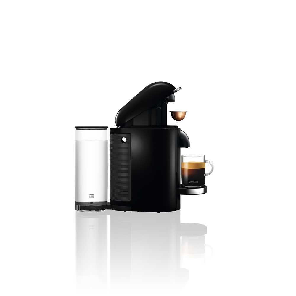 מכונת קפה VertuoPlus מבית NESPRESSO דגם GBC2 בגוון שחור כולל מקציף חלב אירוצי'נו - תמונה 5
