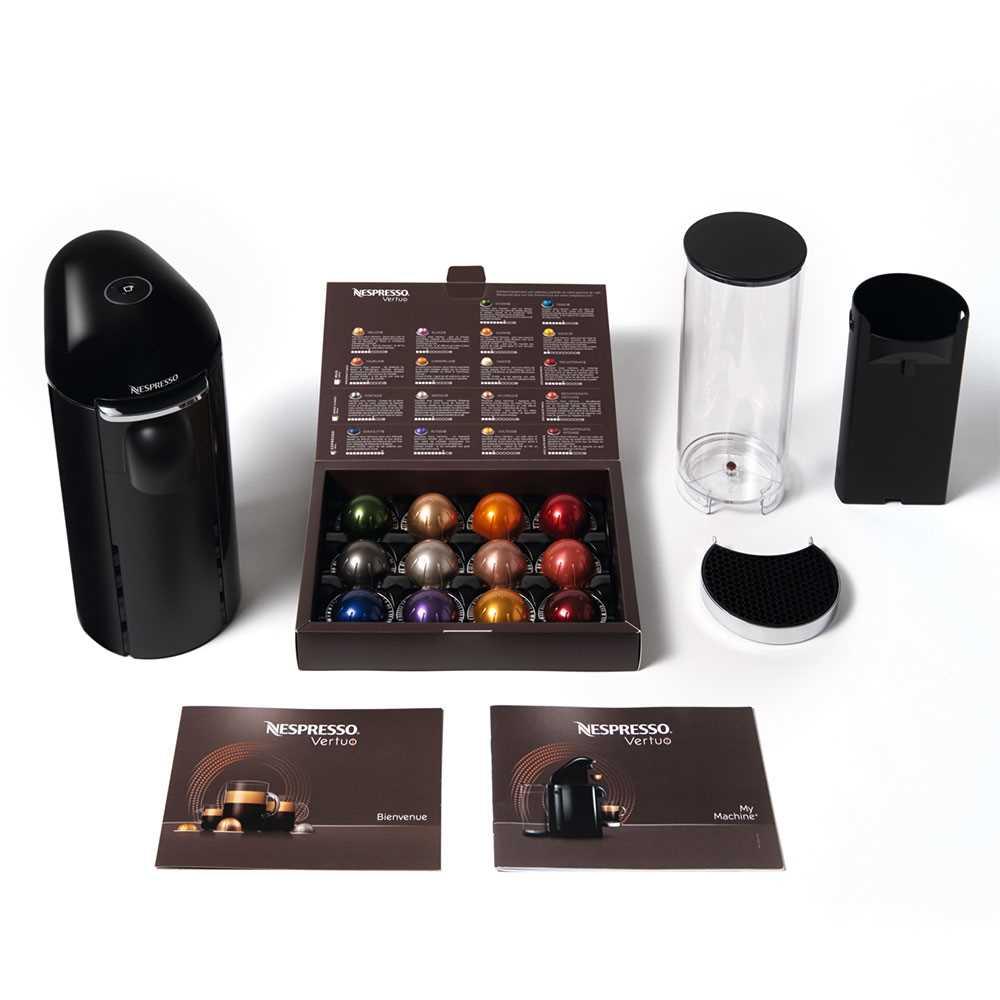 מכונת קפה VertuoPlus מבית NESPRESSO דגם GBC2 בגוון שחור כולל מקציף חלב אירוצי'נו - תמונה 6