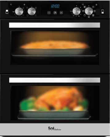 תנור בנוי דו תאי הלכתי Sol TH-828 שחור סול - תמונה 1