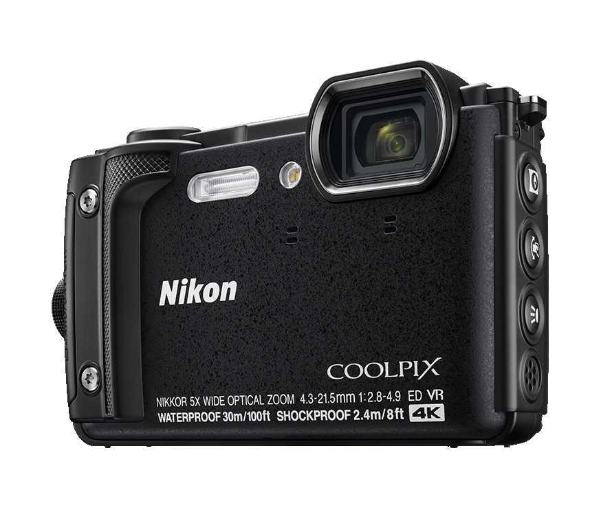 מצלמה Nikon Coolpix W300 BK ניקון +תיק - תמונה 1