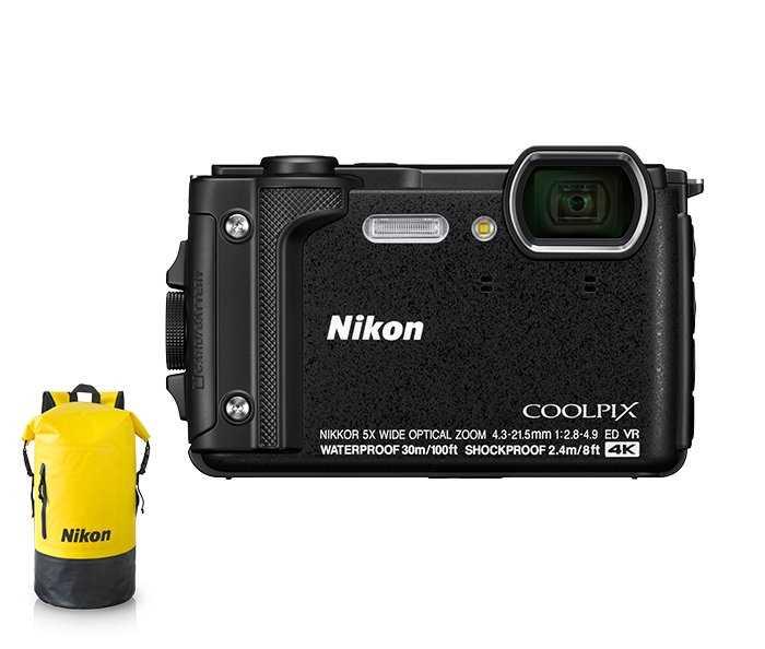 מצלמה Nikon Coolpix W300 BK ניקון +תיק - תמונה 2