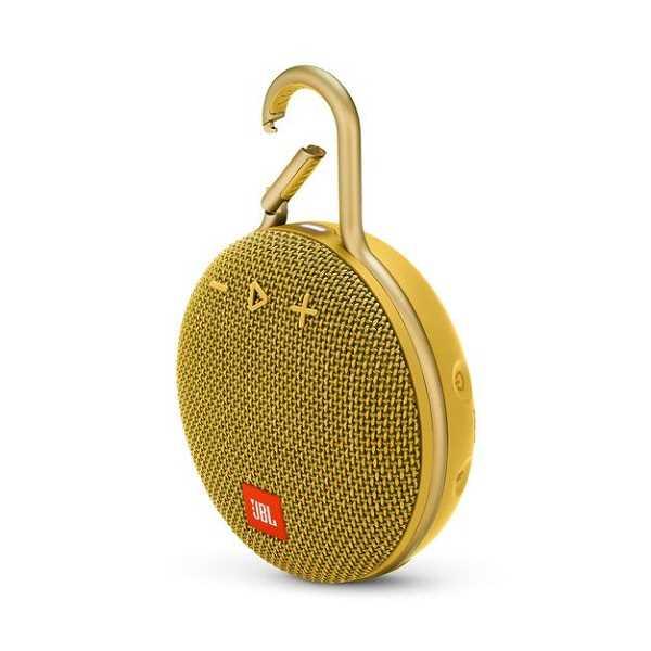 רמקול נייד JBL Clip 3 - צהוב - תמונה 3