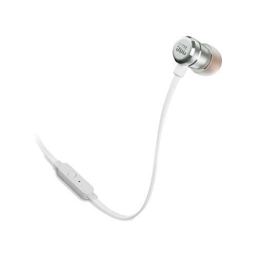 אוזניות חוטיות JBL T290 - כסוף לבן - תמונה 1