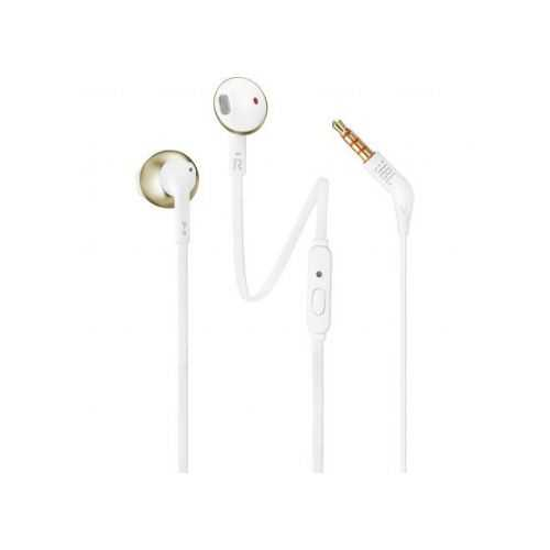 אוזניות חוטיות JBL T205 - זהב - תמונה 1