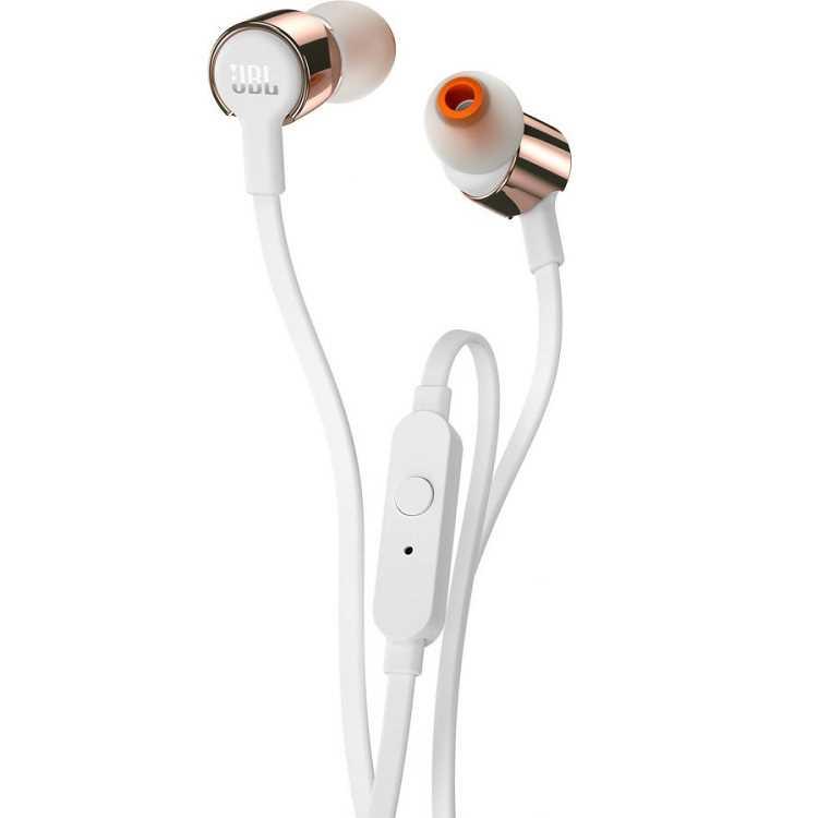 אוזניות חוטיות JBL T210 - זהב/לבן - תמונה 2