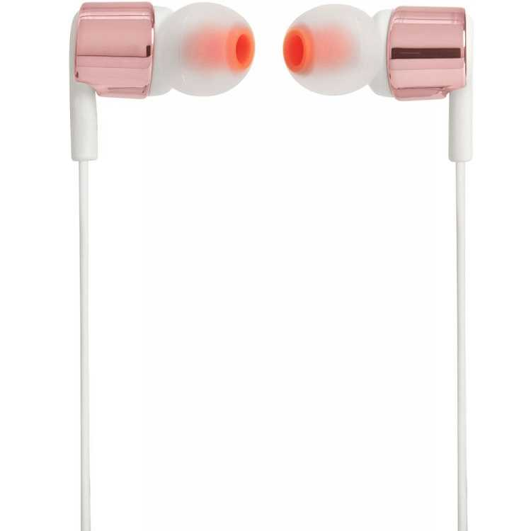 אוזניות חוטיות JBL T210 - זהב/לבן - תמונה 3