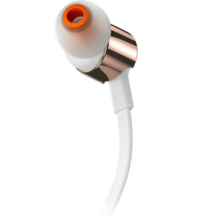 אוזניות חוטיות JBL T210 - זהב/לבן - תמונה 4