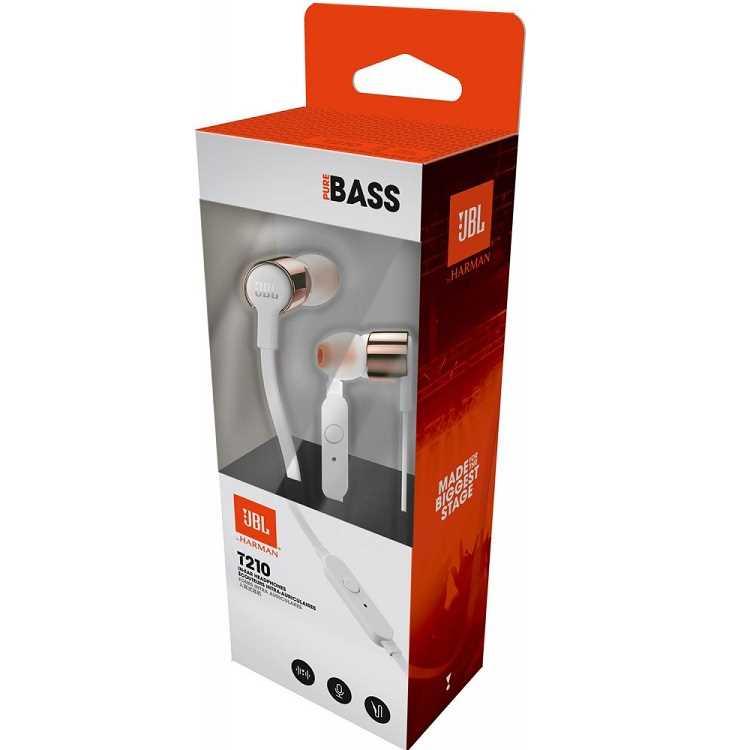 אוזניות חוטיות JBL T210 - זהב/לבן - תמונה 5