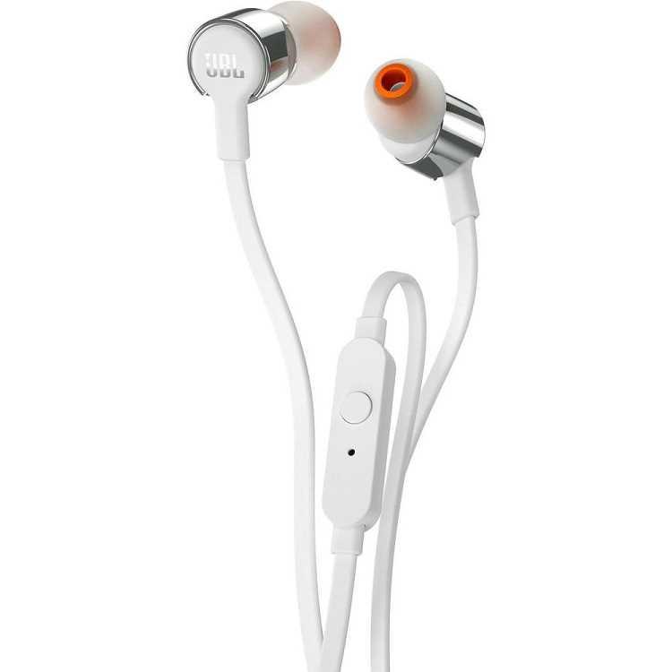 אוזניות חוטיות JBL T210 - כסף/לבן - תמונה 2
