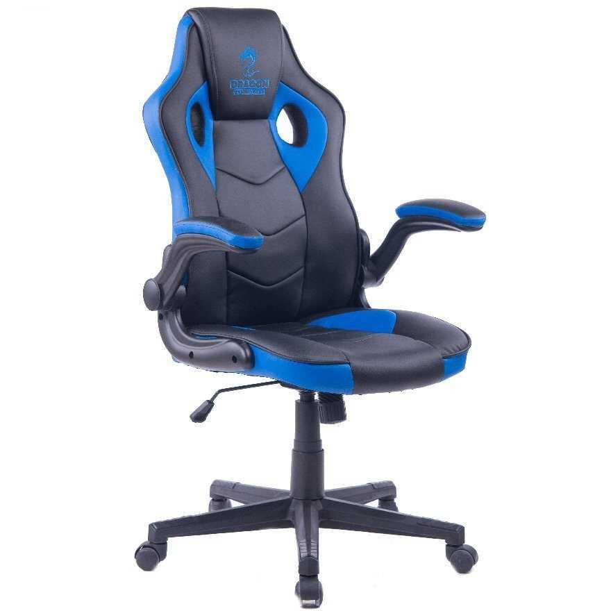 כיסא גיימנג Dragon Combat XL כחול - תמונה 2