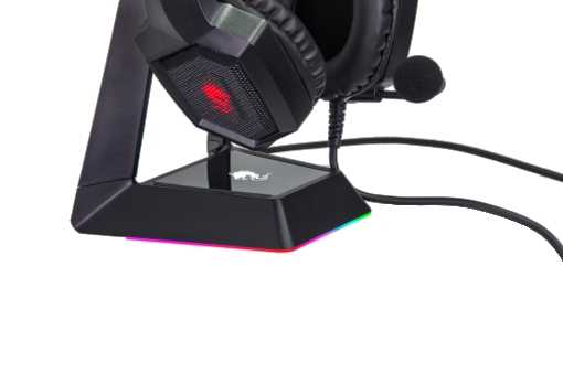 מעמד לאוזניות עם תאורת RGB דגם Dragon GPDRA-HSS - תמונה 3