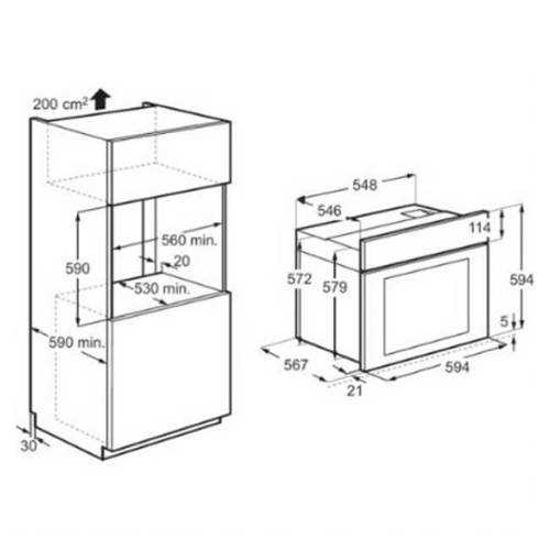 תנור בנוי Electrolux EOB5440AOV אלקטרולוקס - תמונה 2