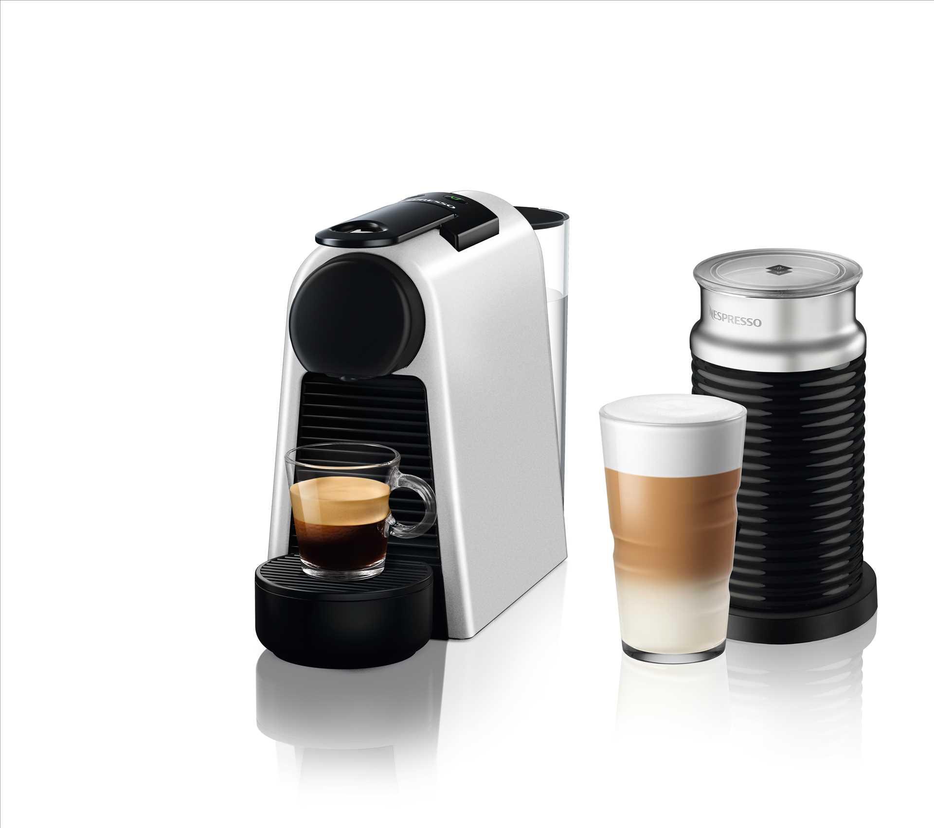 מכונת אספרסו Nespresso Essenza Mini D30 נספרסו בגוון כסוף מט (מהדורה מוגבלת) כולל מקציף חלב ארוצ'ינו - תמונה 1