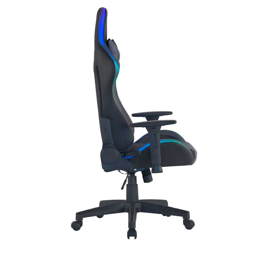 כיסא גיימינג Dragon Space Gaming Chair עם תאורה RGB - צבע אפור - תמונה 2