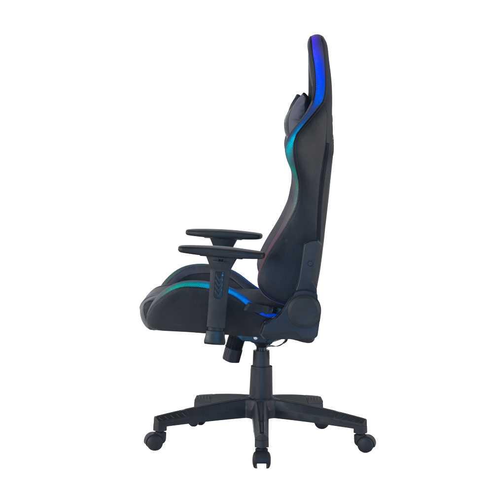 כיסא גיימינג Dragon Space Gaming Chair עם תאורה RGB - צבע אפור - תמונה 3
