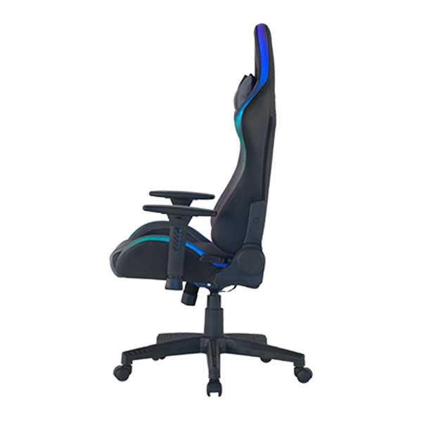 כיסא גיימינג Dragon Space Gaming Chair עם תאורה RGB - צבע אפור - תמונה 4