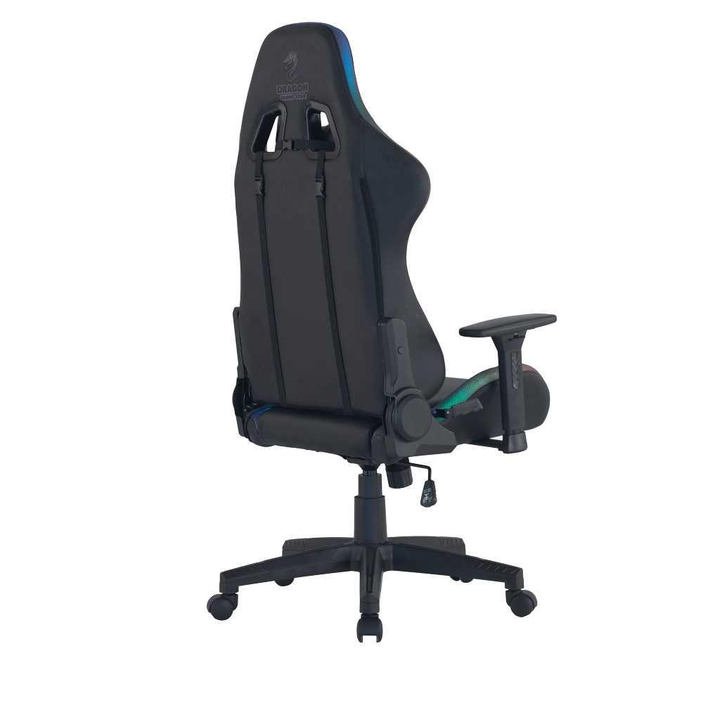 כיסא גיימינג Dragon Space Gaming Chair עם תאורה RGB - צבע אפור - תמונה 5