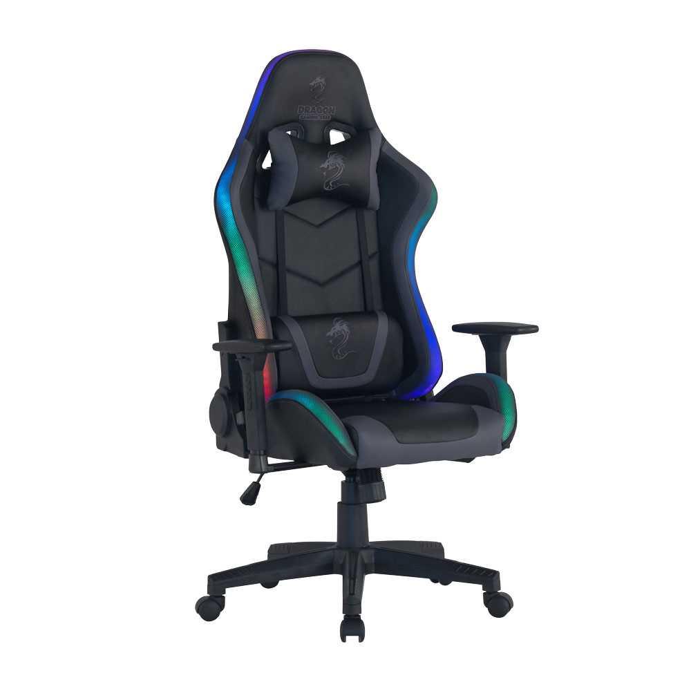 כיסא גיימינג Dragon Space Gaming Chair עם תאורה RGB - צבע אפור - תמונה 12