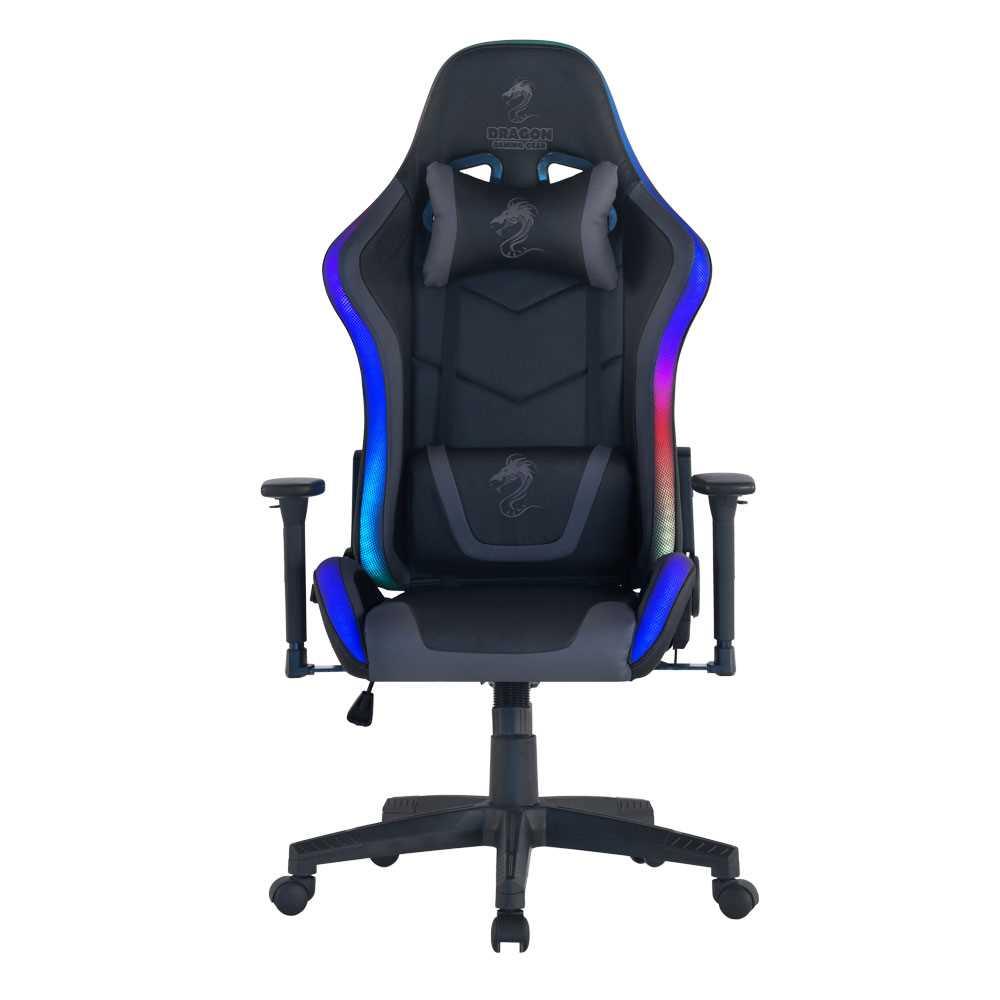 כיסא גיימינג Dragon Space Gaming Chair עם תאורה RGB - צבע אפור - תמונה 1
